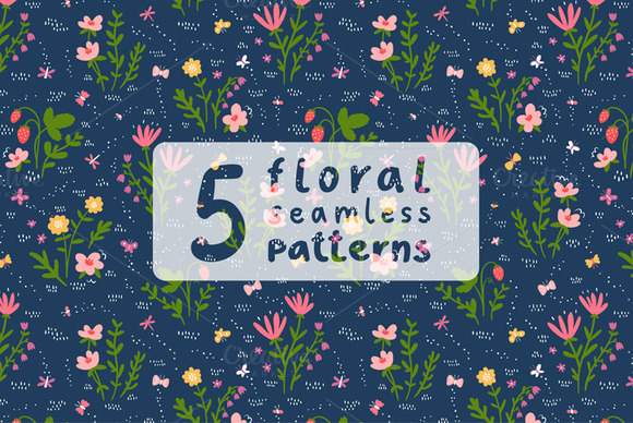 Floral Patterns Set 4