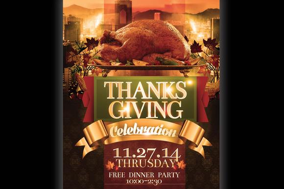 Thanksgiving Invitation Flyer