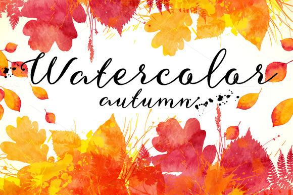 15 Watercolor Autumn Backgrounds