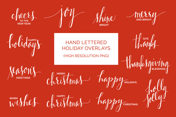 Lettered Holiday Overlays