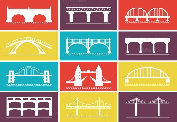 Modern Bridge Icons