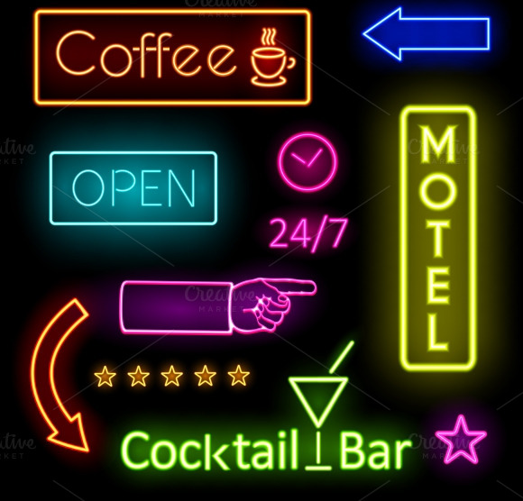Glowing Neon Lights For Cafe