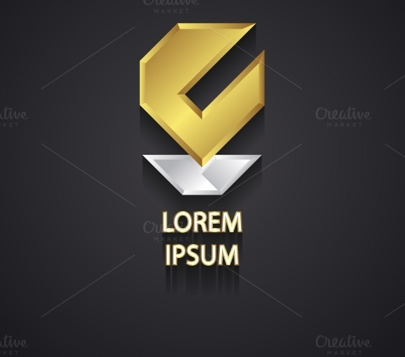 Abstract Gold And Silver Logo