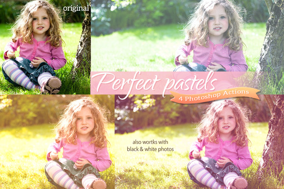4 Perfect Pastel Actions