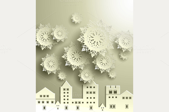 Town With Snowflake