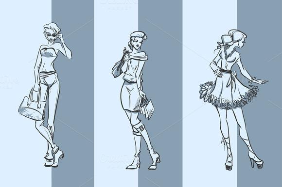 3 Women Sketches