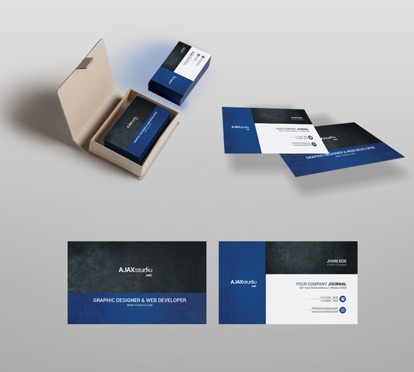 AJAX Studio Business Card PSD