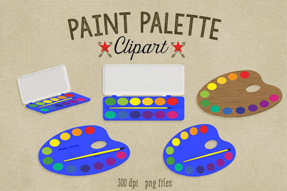 Paint Palette Clipart~Commercial Use