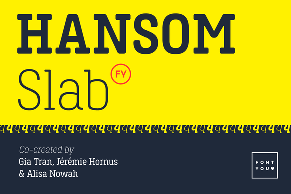 Hansom Slab FY Light Italic