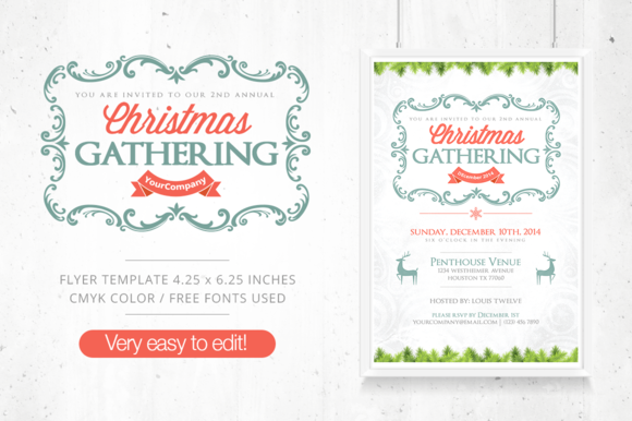 Christmas Gathering Flyer FB Cover