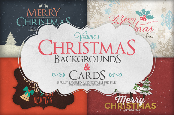 Christmas Background Cards Vol.1