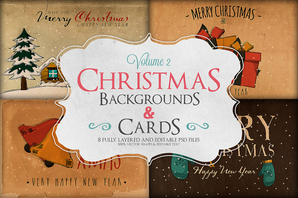 Christmas Background Cards Vol.2