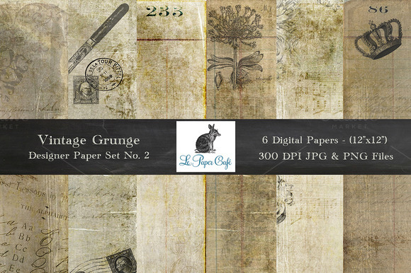 Vintage Grunge Background Papers #2