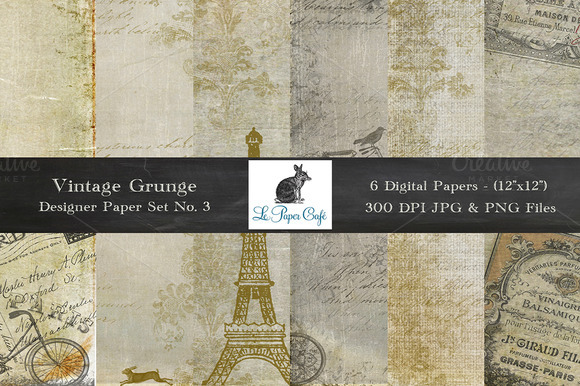 Vintage Grunge Background Papers #3