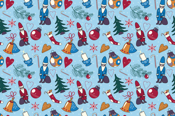 Pattern With NY And Xmas Elements