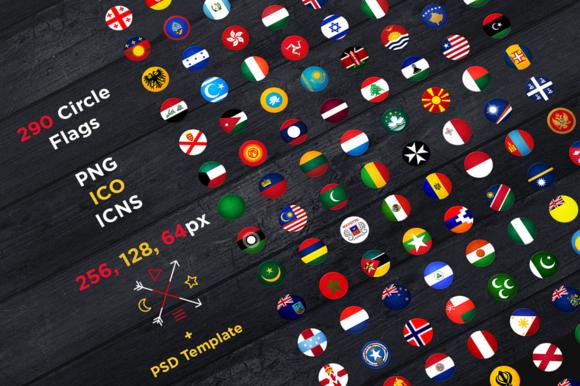 290 Circle Flags