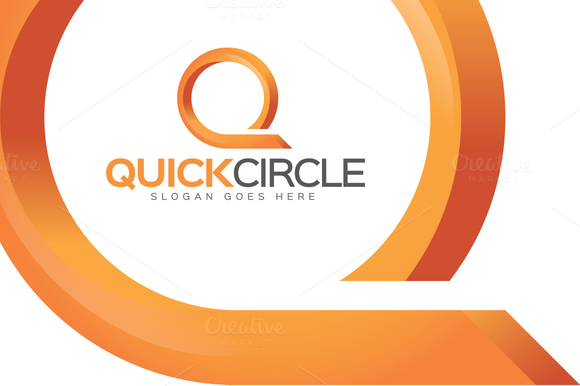 Quick Circle Letter Q Logo