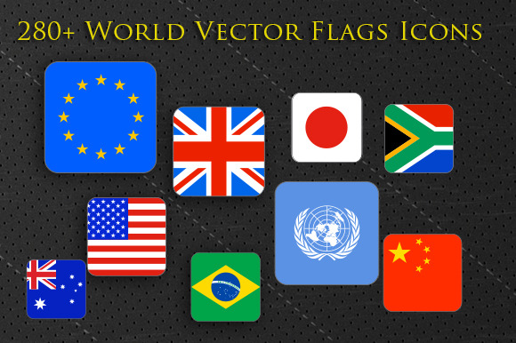 280 World Flags Squared Icons