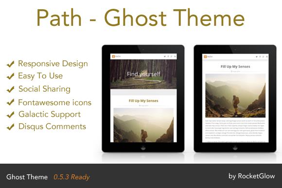 Path Responsive Ghost Theme