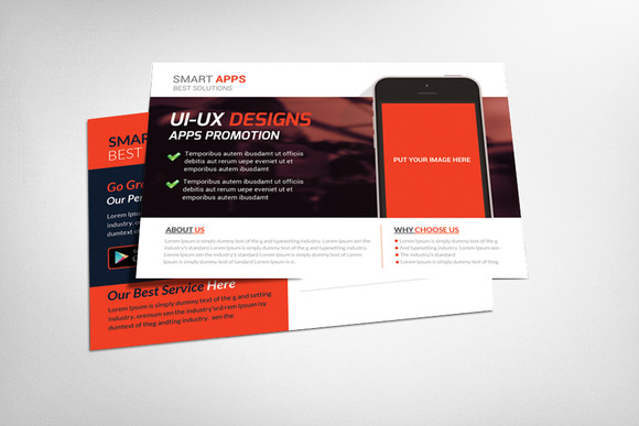 Mobile Apps Postcard Template