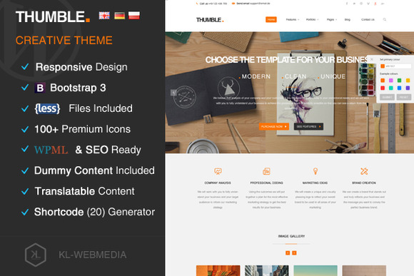 Thumble Creative Wordpress Theme