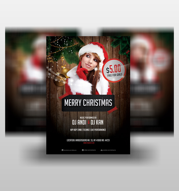 Merry Christmas 2015 Flyer PSD