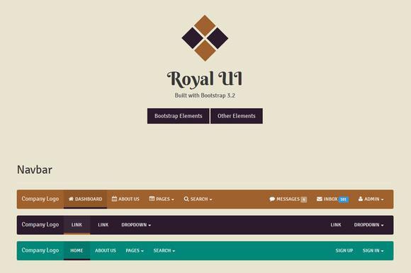 Royal UI Bootstrap 3 Skin
