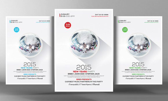 Happy New Year Flyer Psd Template