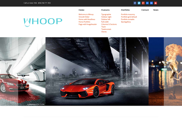 Whoop Creative WordPress Theme