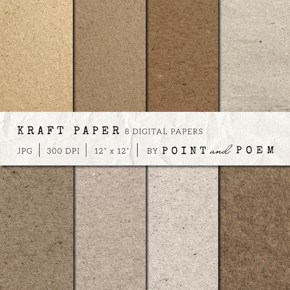 Kraft Paper Texture Pack Natural