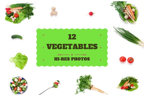12 Vegetables Studio Photos