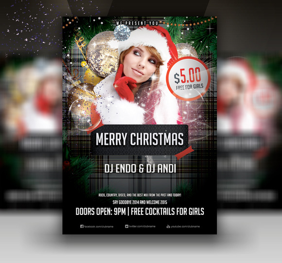 Merry Christmas Creative Flyer PSD