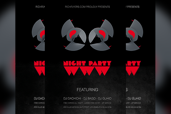 WWW Night Party Flyer
