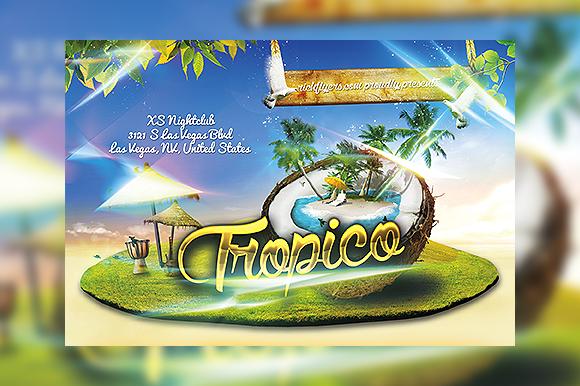 Tropico Summer Party Flyer