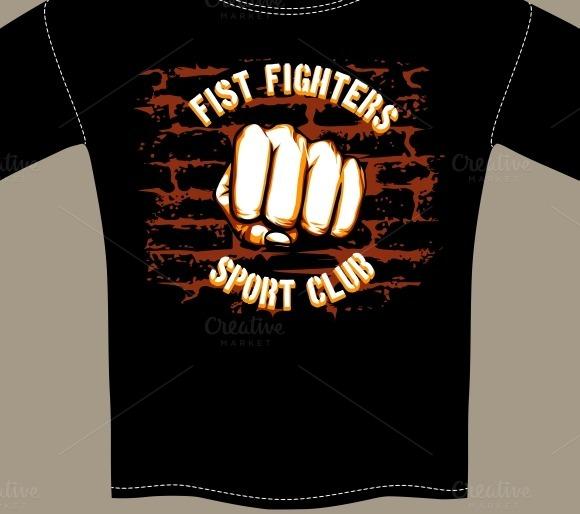 Fight Club Shirt Template Design