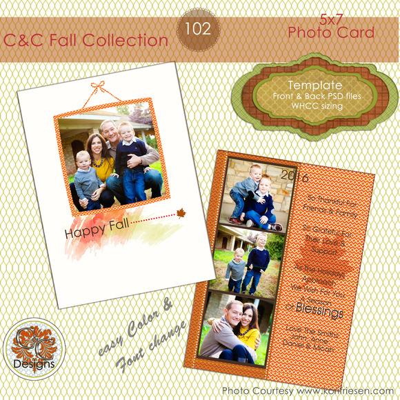 C C Fall Photo Card Selection #102