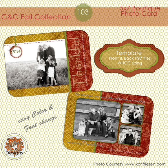 C C Fall Photo Card Selection #103