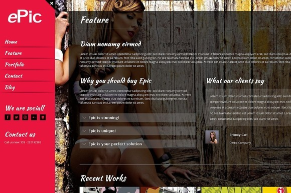 Epic A Fullscreen WordPress Theme