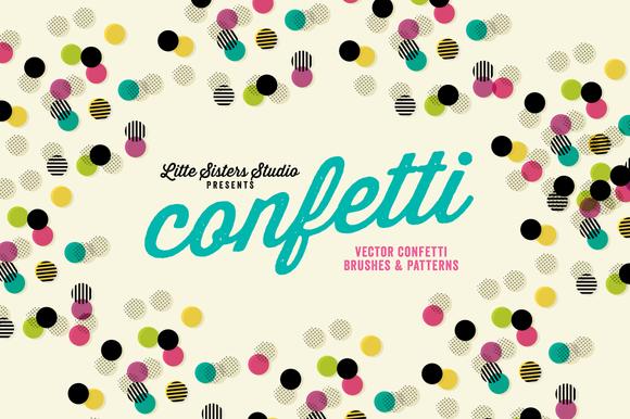 Confetti Brushes Patterns