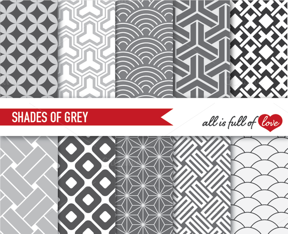 Grey Backgrounds Japanese Patterns