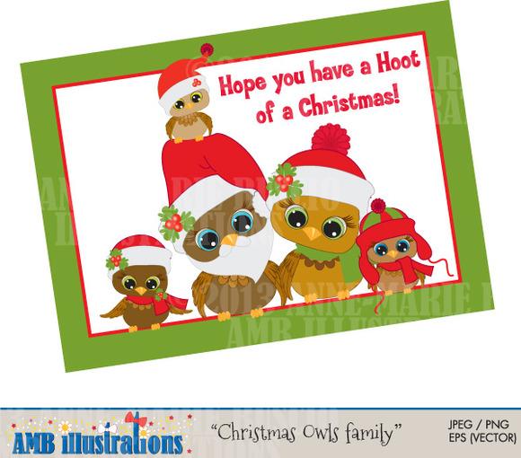 Christmas Owls Family 356