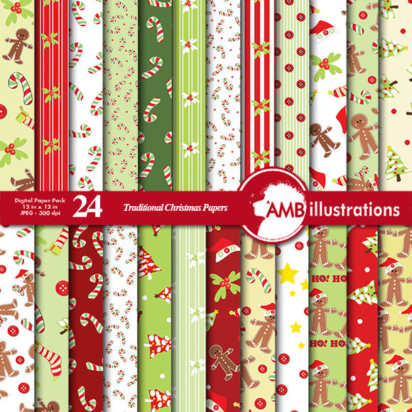 Traditional Christmas Papers 427