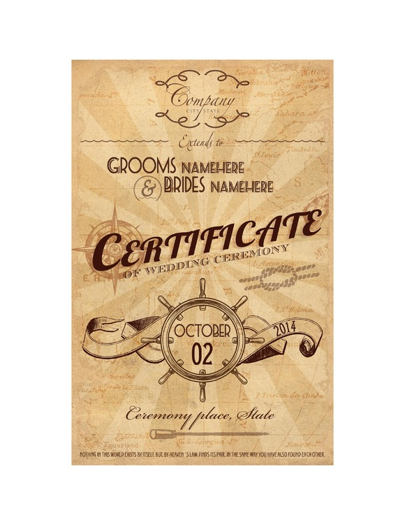 Nautical Ceremony Certificate