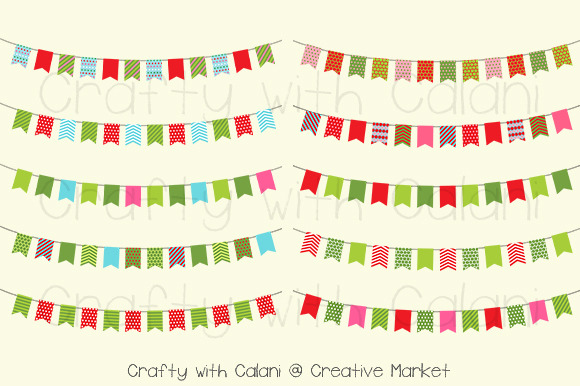 Christmas Theme Digital Bunting