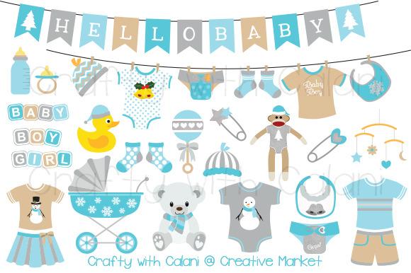 Winter Wonderland Baby Clipart