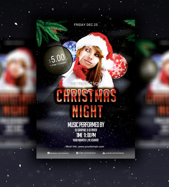 Christmas Night 2015 Flyer PSD