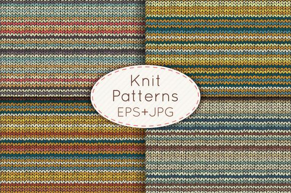 Knit Seamless Patterns Set