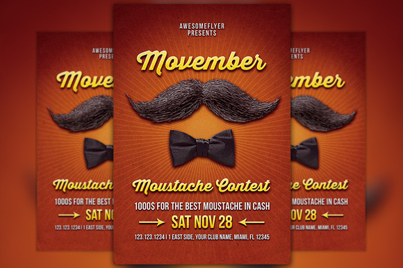 Movember Mustache Contest Template