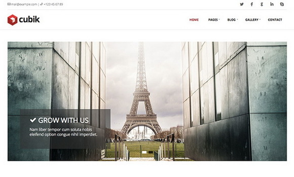 Cubik Business Blog Theme