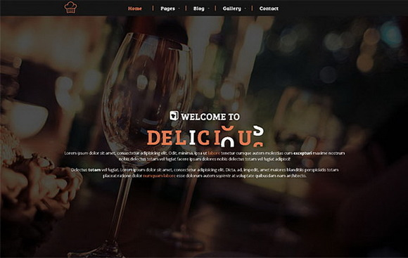 Delicious Restaurant Cafe Theme